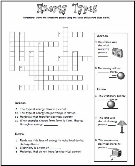 Homecourt Publishers | Free Activity Energy - Student Worksheet