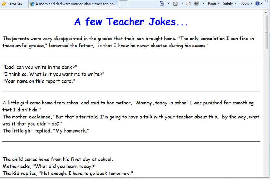 Good Laugh... - September 27, 2011, 8:57 am